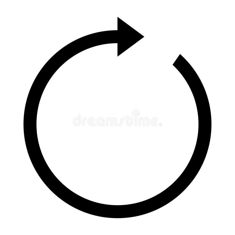 Tournez l'icône de flèche illustration de vecteur