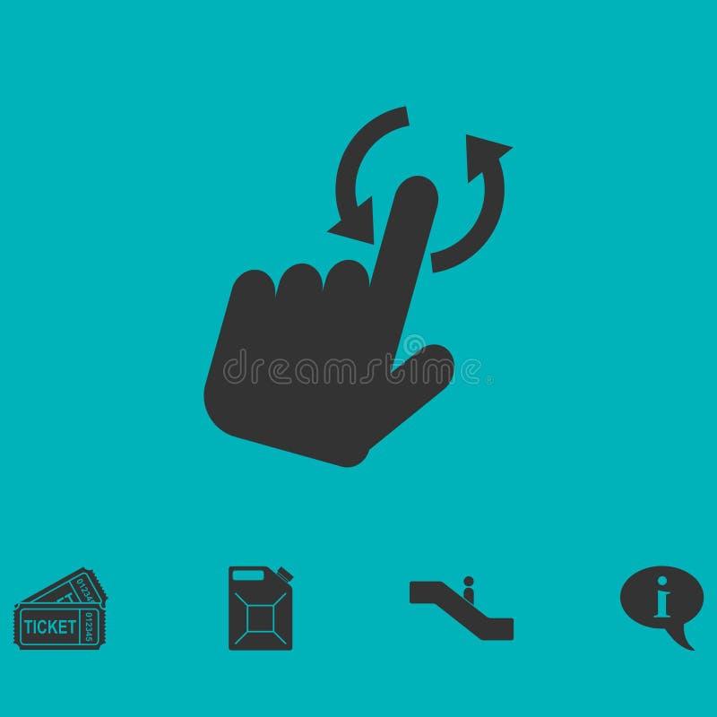 Tournez l'icône de Smartphone ou de téléphone mobile ou de Tablette à plat illustration de vecteur