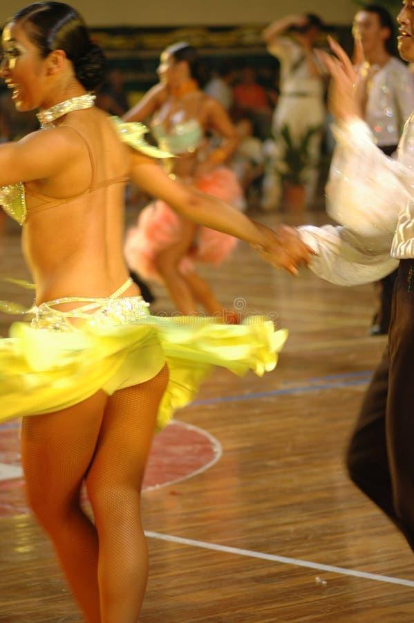 Tournez le ressortissant de danse de norme internationale de la Chine Nan-Tchang ouvert photo libre de droits