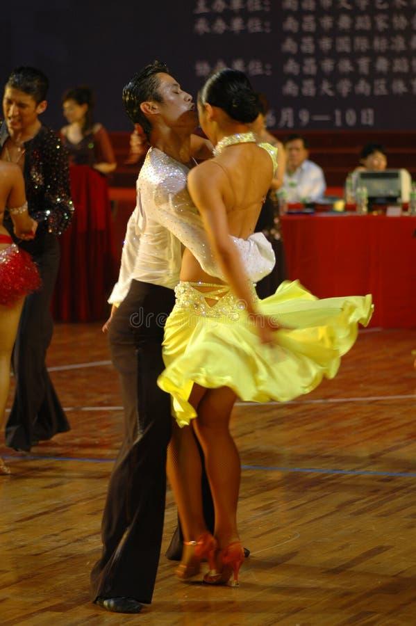 Tournez le ressortissant de danse de norme internationale de la Chine Nan-Tchang ouvert images libres de droits