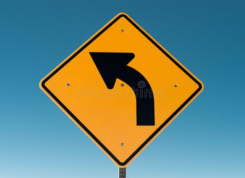 Tournez le signe gauche photo libre de droits