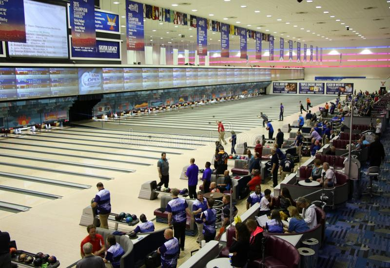 Tournoi de bowling - stade national de bowling - Reno Nevada image stock