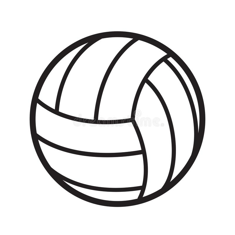 Tournoi de concurrence de jeu d'activité de sports de boule de volleyball, sto illustration libre de droits