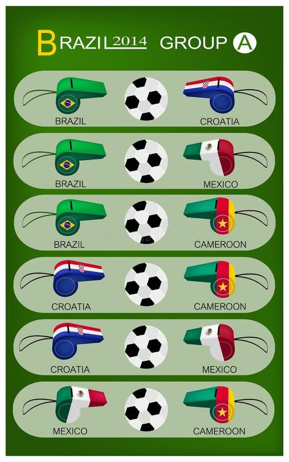 Tournoi du football du groupe A du Brésil 2014 illustration de vecteur