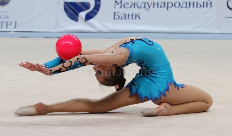 Tournoi international en gymnastique rhythmique images libres de droits