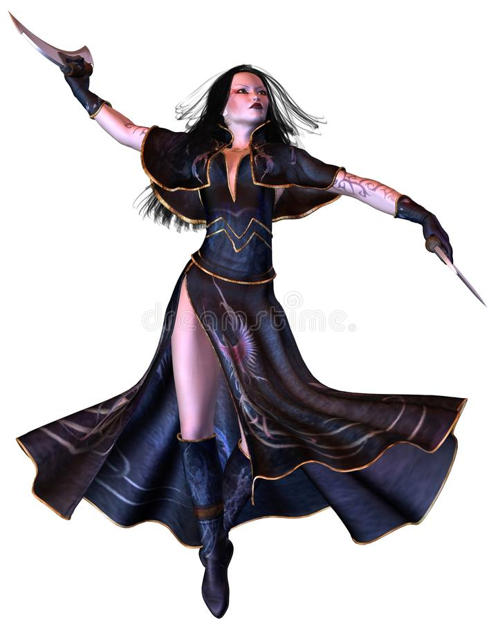 tournoiement gothique de bladedancer illustration libre de droits