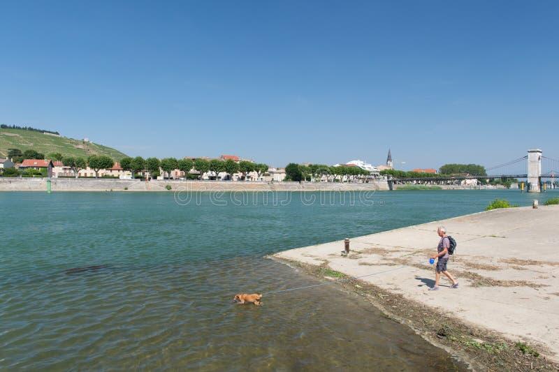 Tournon在法国 免版税库存照片