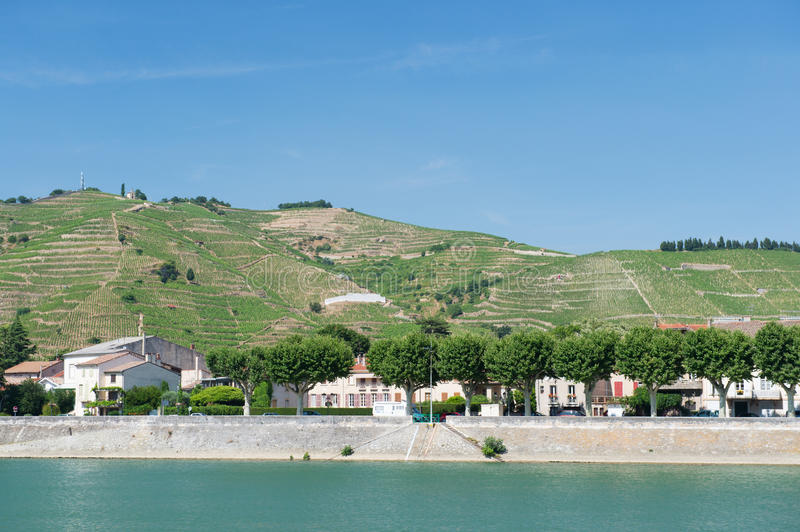 Tournon in France royalty free stock photography