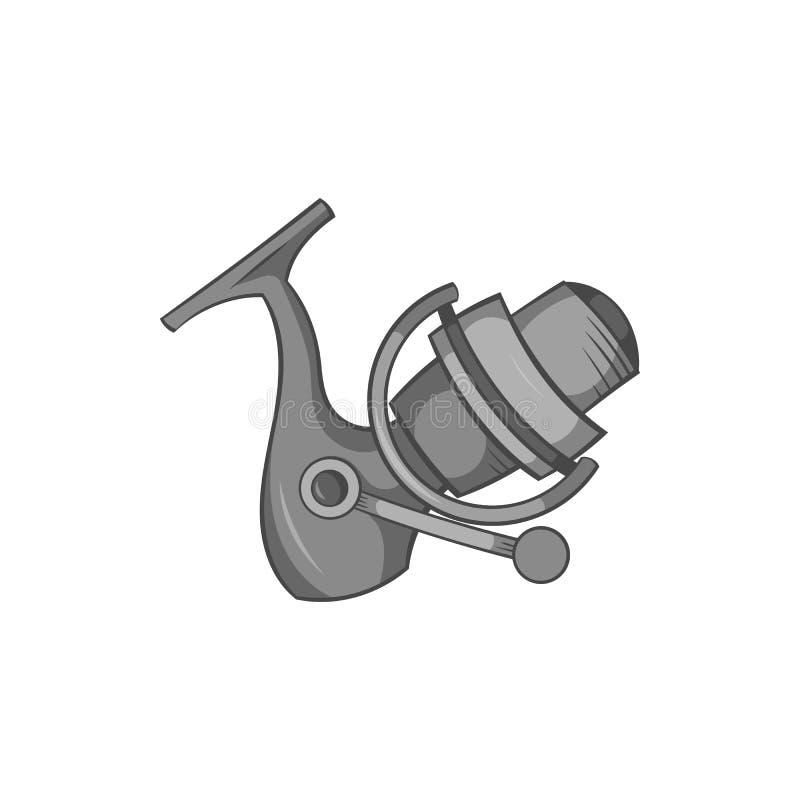Tournoyez sur l'icône de tige, style monochrome noir illustration de vecteur