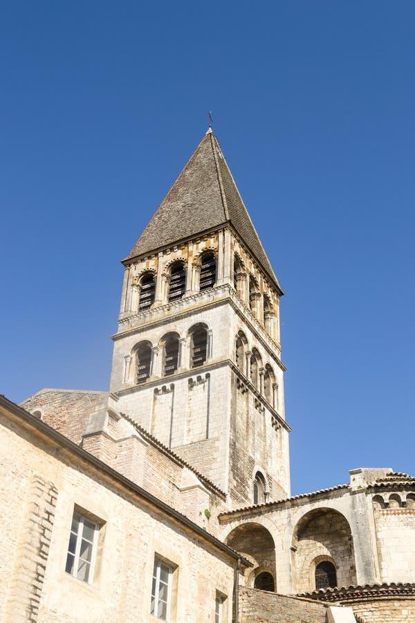 Tournus,法国修道院  图库摄影