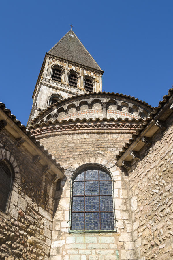 Tournus,法国修道院  免版税图库摄影