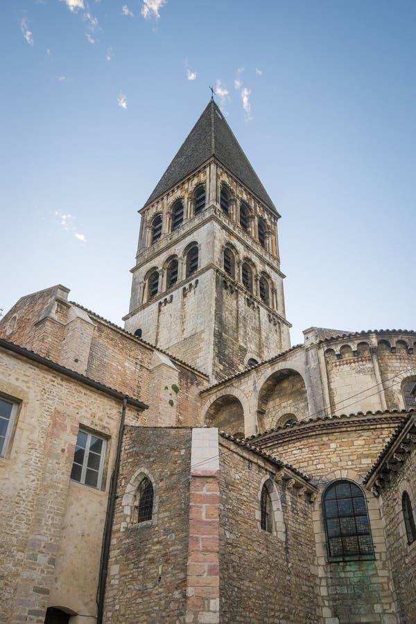 Tournus,法国修道院  免版税库存照片