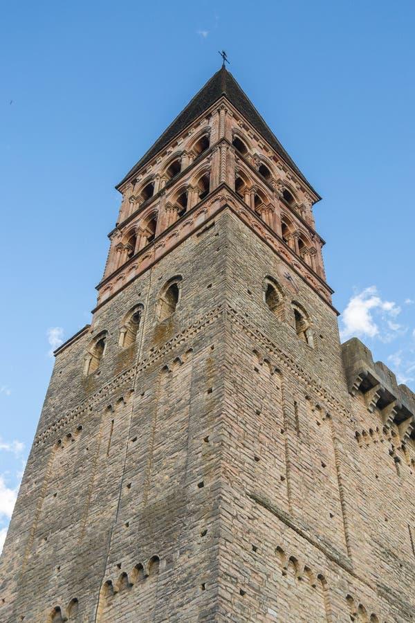Tournus,法国修道院  免版税库存图片