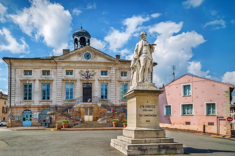 Tournus City Hall, Frankrijk royalty-vrije stock fotografie