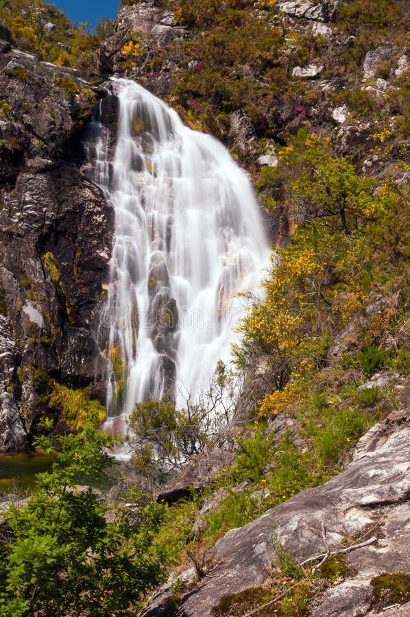 Touron waterfall in Melon, Ourense, Spain. Waterfall in Touron Melon, Ourense, Spain stock image