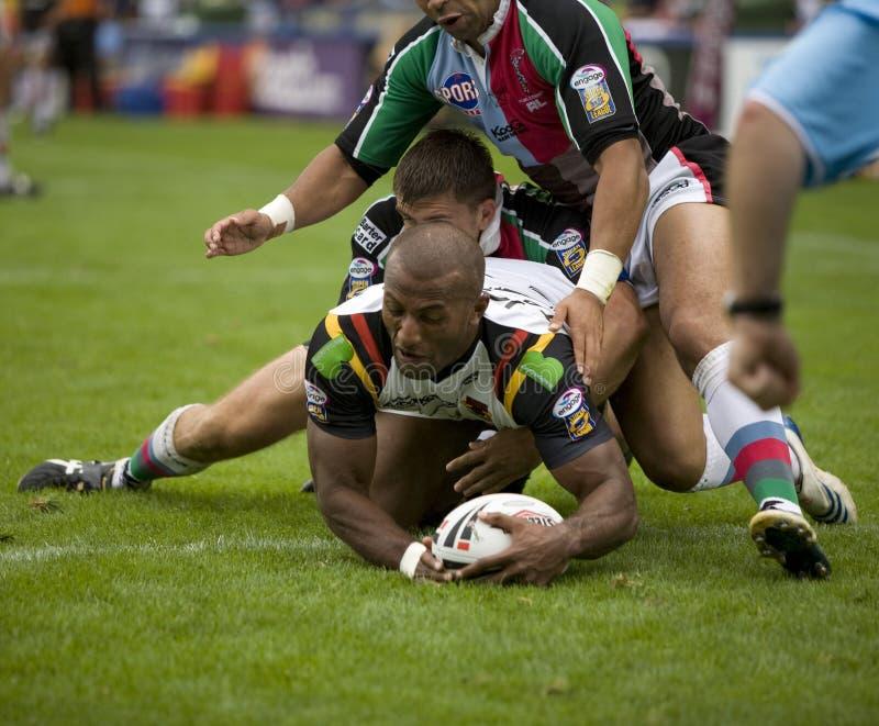 Touros da liga v Bradford do rugby dos Harlequins imagens de stock royalty free