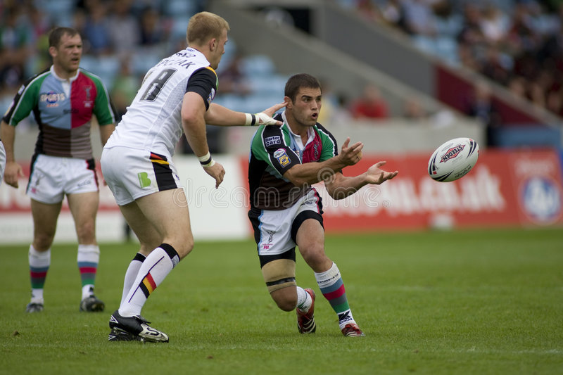 Touros da liga v Bradford do rugby dos Harlequins fotos de stock royalty free