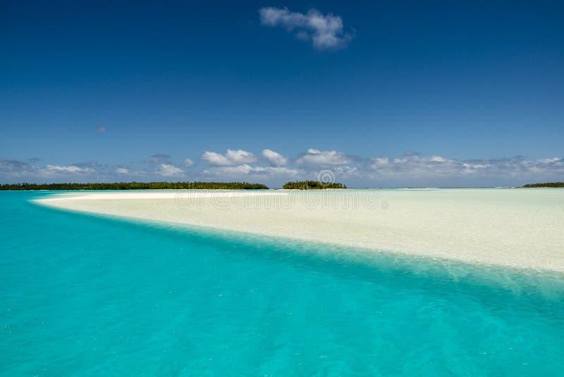 Download Turquise Water, White Sandbar, Small Islands, South Pacific Ocean, Aitutaki Stock Photo - Image: 35555522