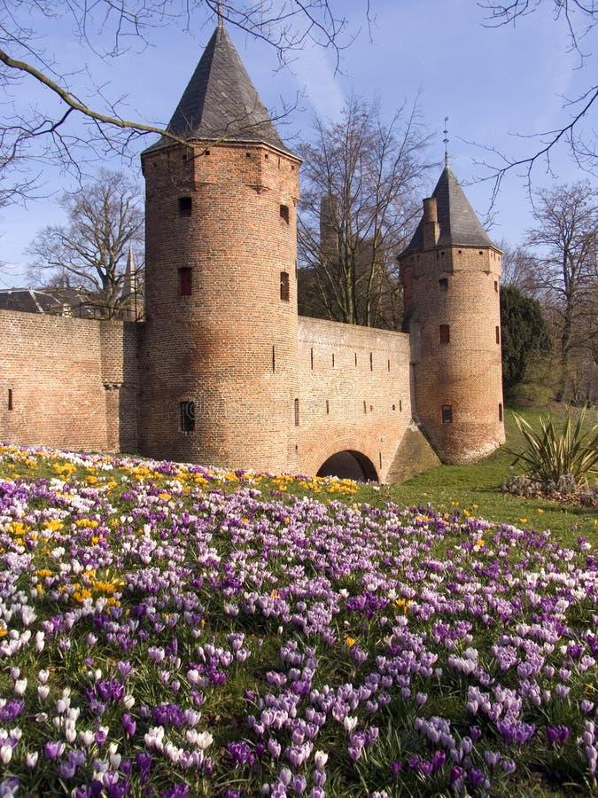 Download Tours 2 de ville image stock. Image du passerelle, netherlands - 90673
