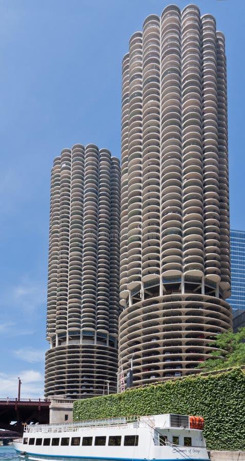 Tours Chicago de ville de marina photos stock