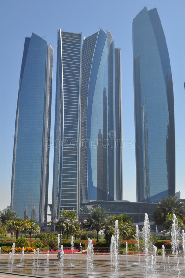 Tours d'Etihad en Abu Dhabi, EAU photos libres de droits