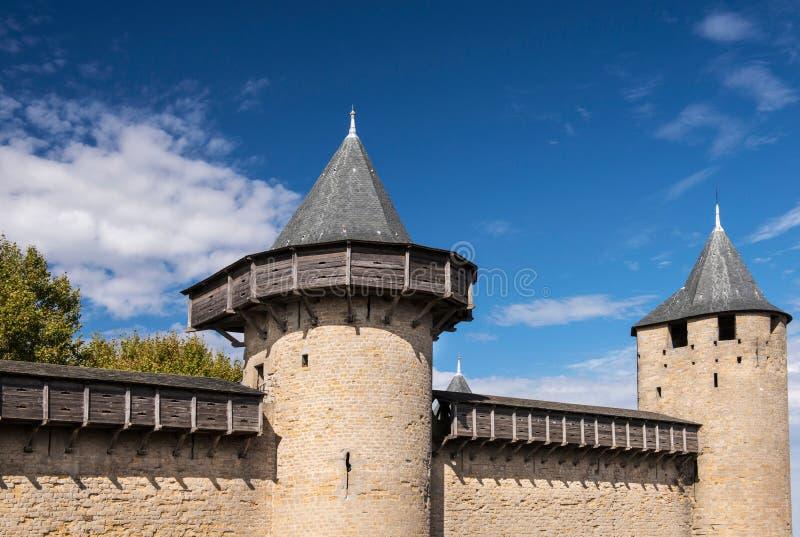 Tours de Carcassonne photo libre de droits