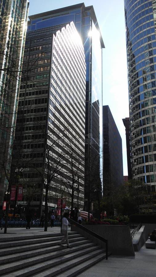 Tours de Chicago Rue de LaSalle photo libre de droits