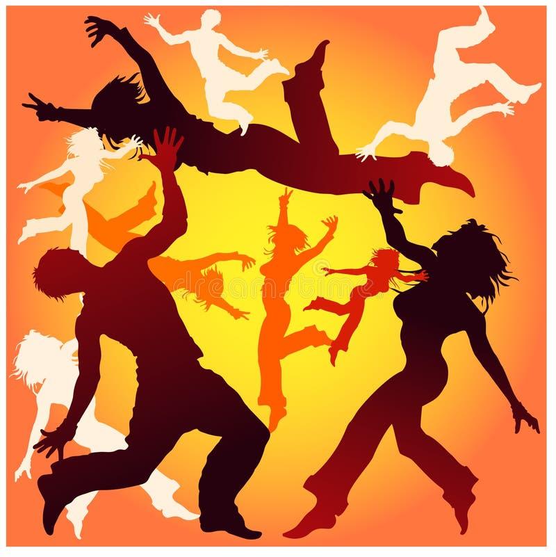Tours de danse en jaune illustration de vecteur