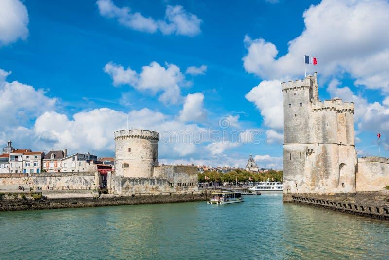 Tours de forteresse antique de La Rochelle France photos libres de droits