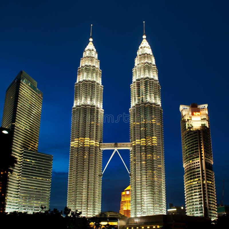 Tours de Kuala Lumpur, Malaisie Petronas. photographie stock libre de droits