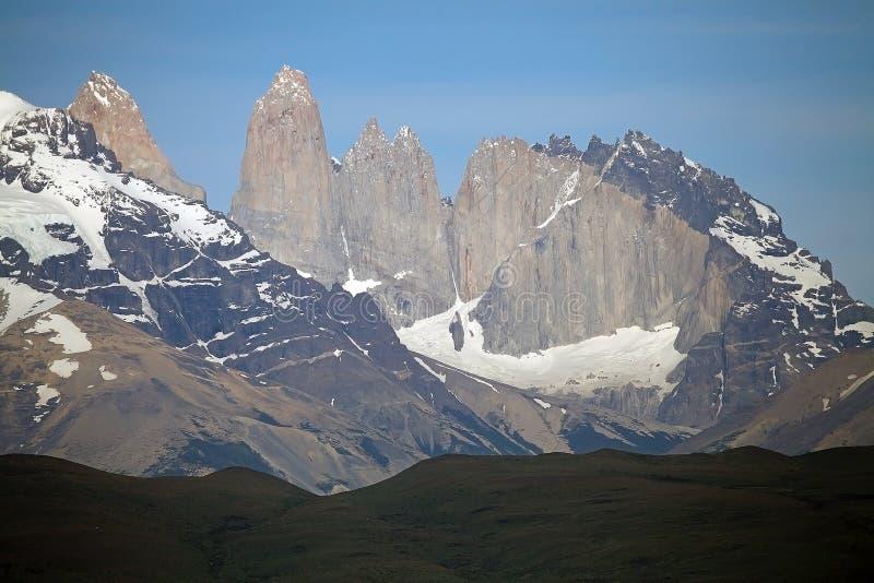 Tours de Paine au parc national de Torres del Paine, Patagonia chilien, Chili image stock