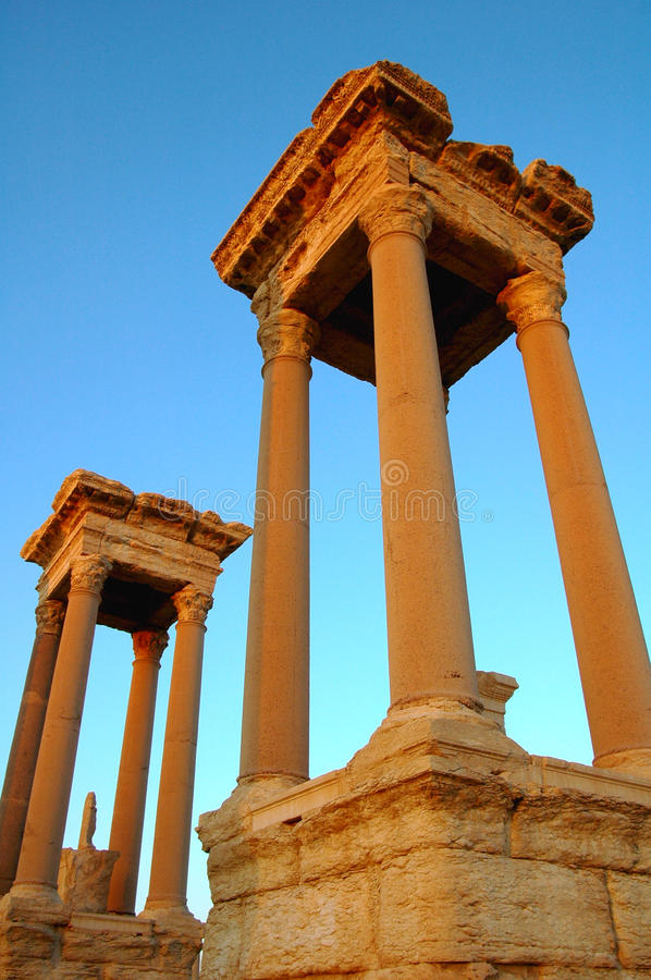 Tours de Palmyra photo libre de droits