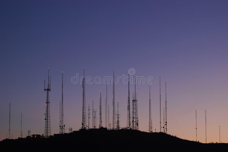 Tours de télécommunications photo libre de droits