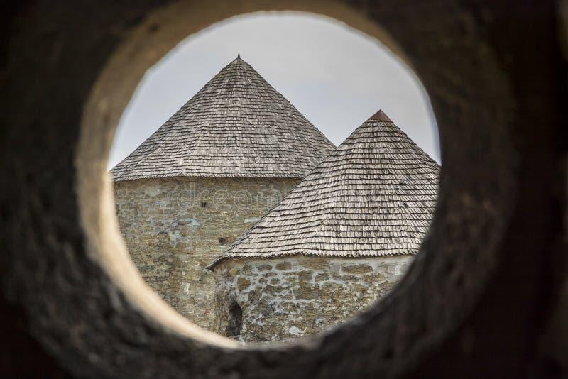 Tour de château dans Kamianets Podilskyi, Ukraine, l'Europe. images libres de droits