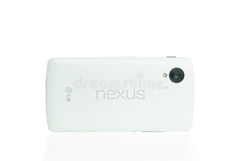 TOURS, FRANCE - September 28,2014: The Nexus 5 is a smartphone c. O-developed by Google and LG Electronics that runs the Android operating system stock images