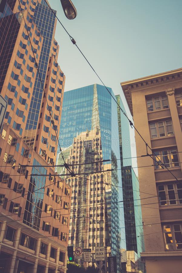 Tours modernes à San Francisco, Etats-Unis images libres de droits