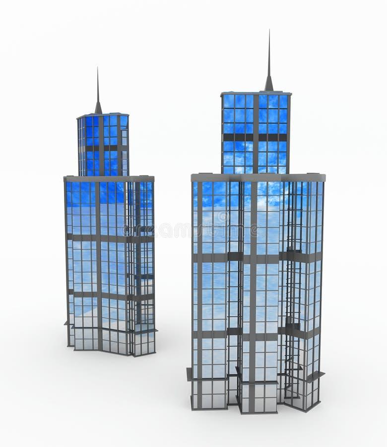 tours modernes de constructions illustration libre de droits