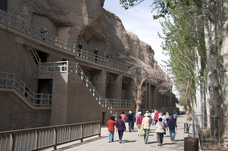 Download Tours in the Mogao caves editorial photography. Image of ruin - 24492402