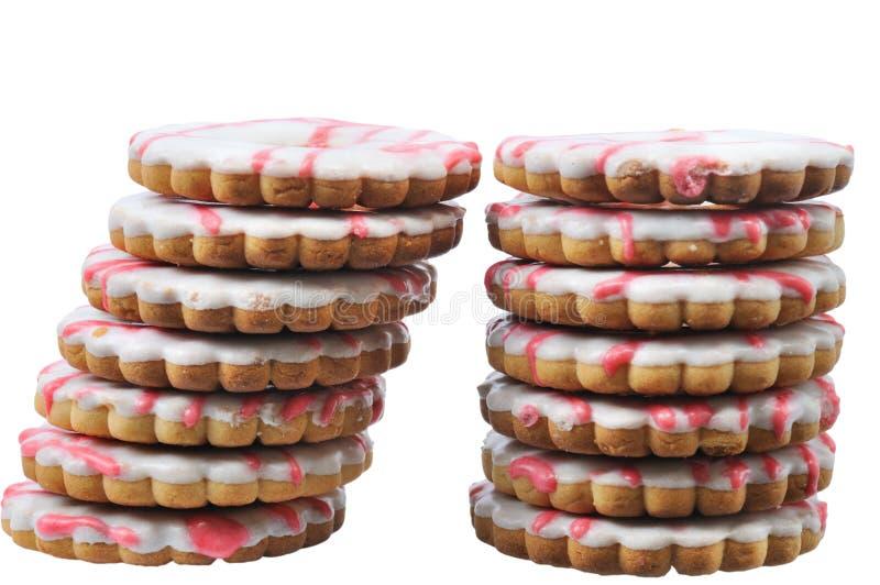 tours savoureuses deux de gâteau images libres de droits