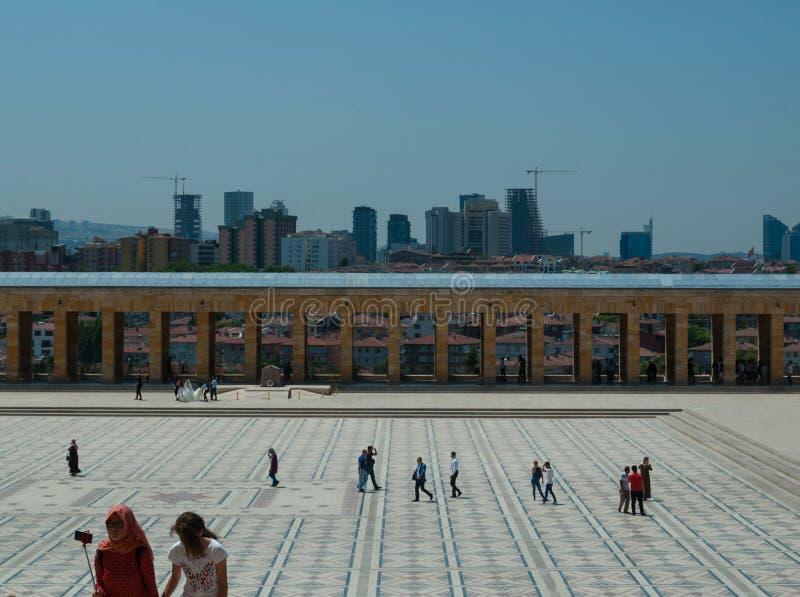 Toursists bei Anitkabir, Ankara, die Türkei stockbild