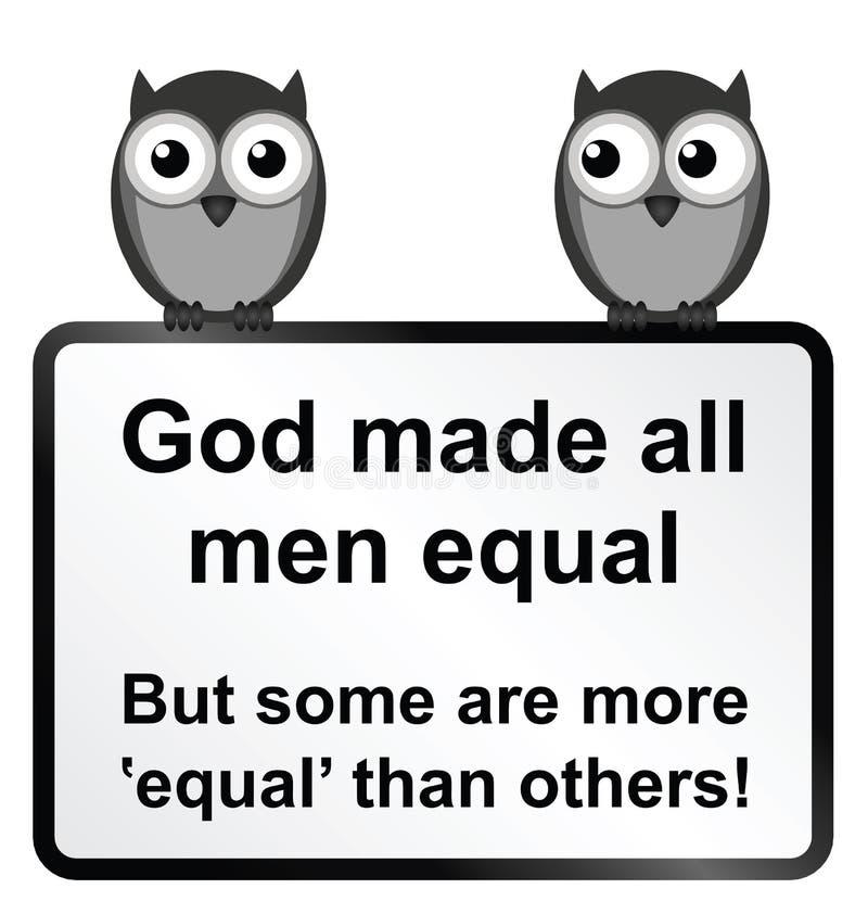 Tous les hommes égaux illustration stock