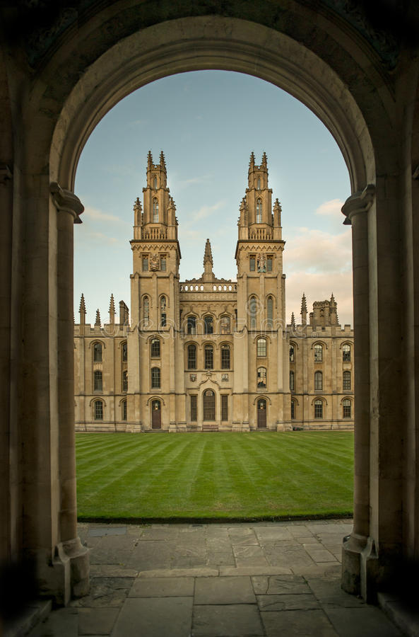 Tous les saints université, Oxford photo stock