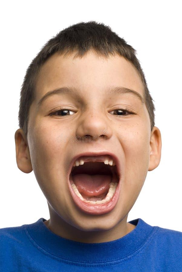 Tous que je veux pour Noël - manquer de deux dents images stock