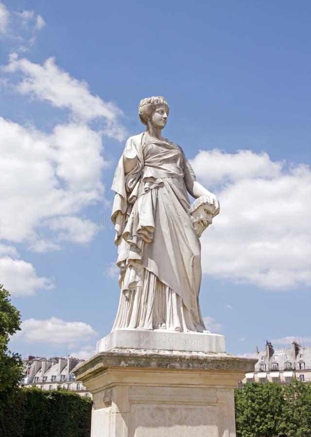 Toussaint J乳酪面粉糊1836/1880, Tuileries (巴黎Fr喜剧雕象  免版税库存照片