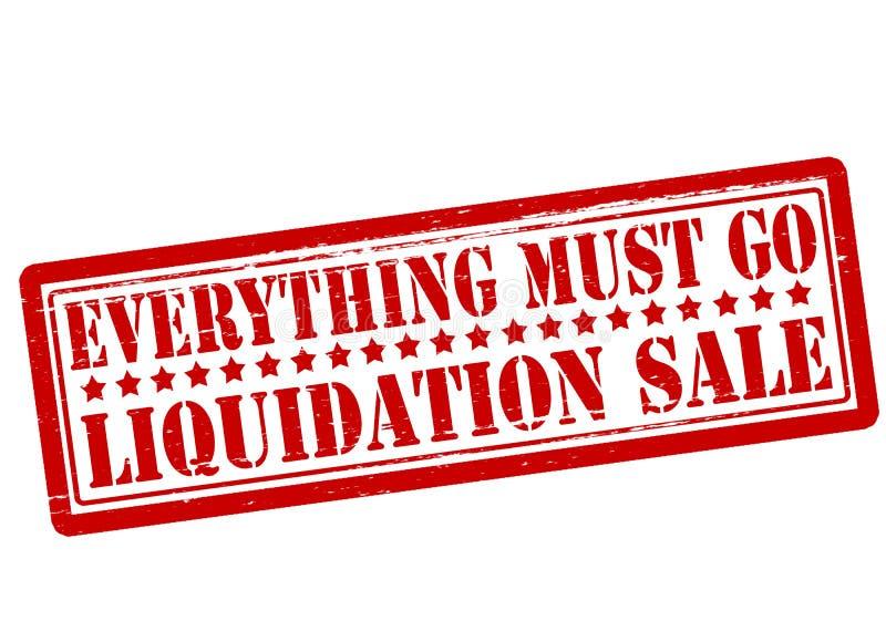 Tout doit aller vente de liquidation illustration stock