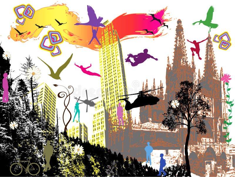Tout le monde danse 4 illustration libre de droits