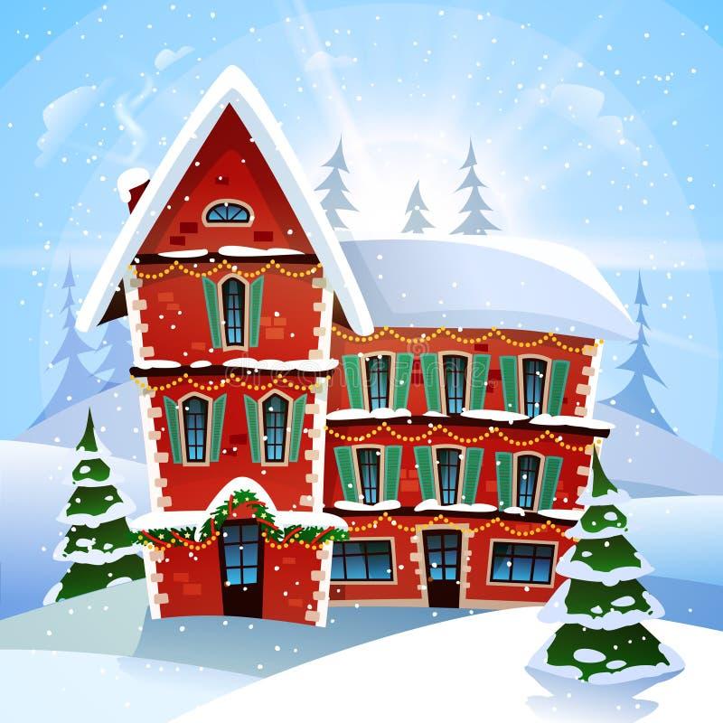 tout le Noël clôturé éditent la possibilité de pièces de l'illustration eps8 pour diriger illustration stock