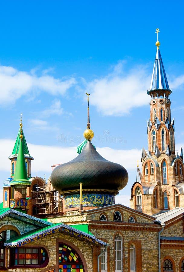 Tout le temple de religions à Kazan, Russie photos stock