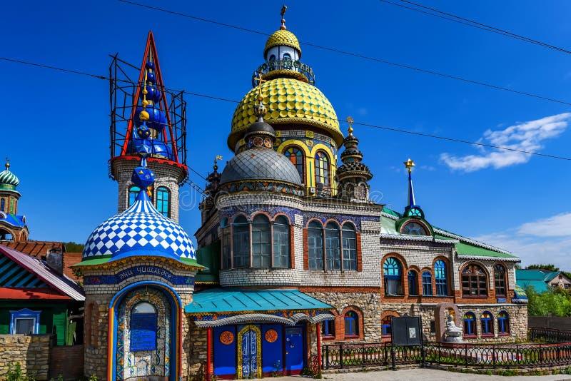 Tout le temple de religions à Kazan, Tatarstan, Russie photographie stock libre de droits
