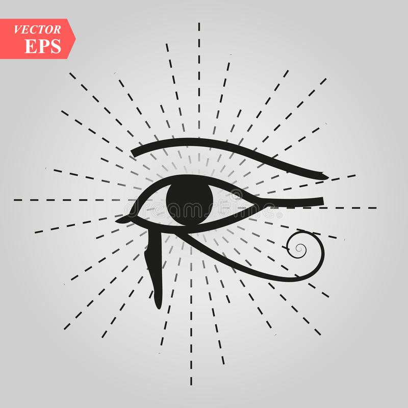 Tout-voyant l'oeil de Dieu l'oeil de l'oeil de Providence du delta lumineux Oculus Dei d'omniscience Symbole sacré mystique antiq illustration de vecteur